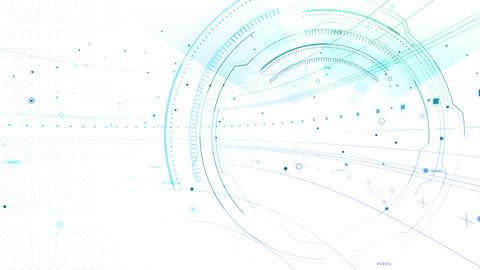 AI digital data network computer technology 3D illustration background 5 03 white Animation