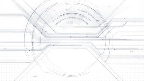 AI digital data network computer technology 3D illustration background 5 05 white Animation