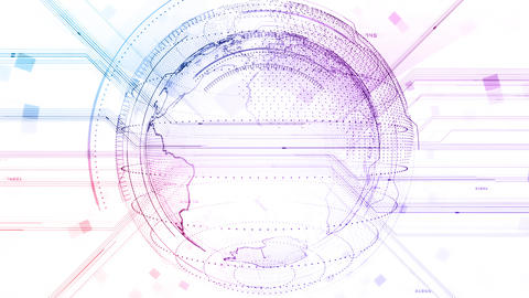 AI digital data network computer technology 3D illustration background 5 06 white Animation