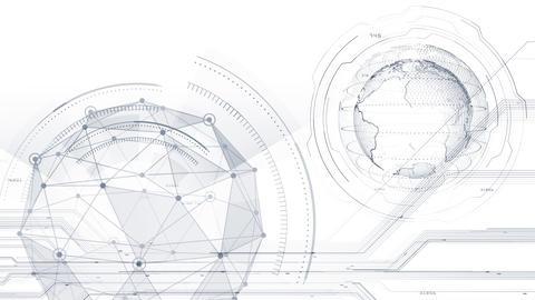 AI digital data network computer technology 3D illustration background 5 14 white Animation