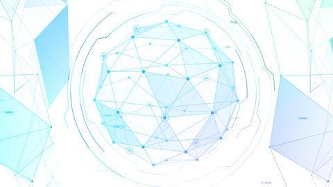 AI digital data network computer technology 3D illustration background 5 18 white Animation