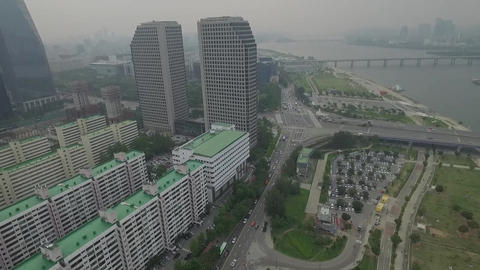 Seoul Yeouido buildings Live Action