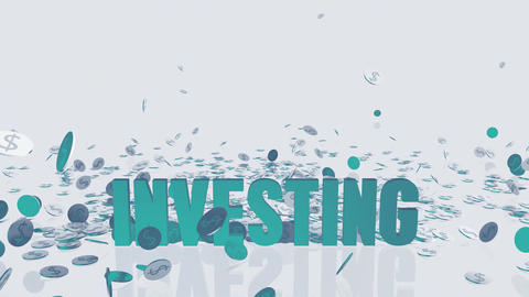 Instant Investing Concept with Money Falling From the Sky Animation