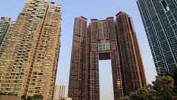 The Arch apartments Kowloon Hong Kong Footage