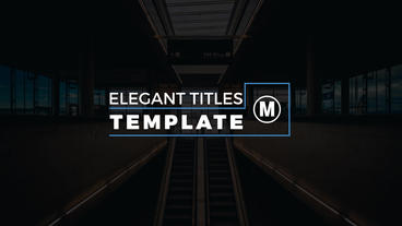 Minimal Titles After Effects Project