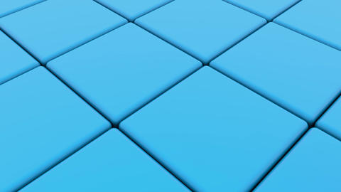 Cubes in blue with one red between Animation