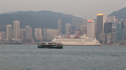 Ferry boat at Hong Kong Footage