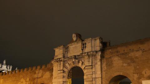 Porta San Giovanni. Rome, Italy Footage