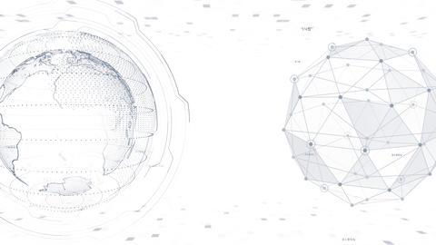 AI digital data network computer technology 3D illustration background 5 25 white Animation