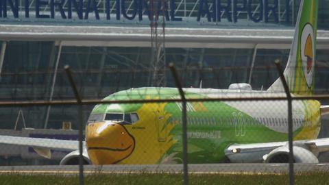 NOK Air Boeing 737 taxiing GIF