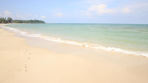 Beautiful sea and blue sky at Andaman sea,thailand Live Action