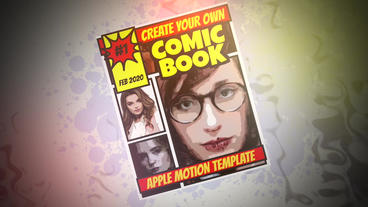 Comic Book Plantilla de Apple Motion