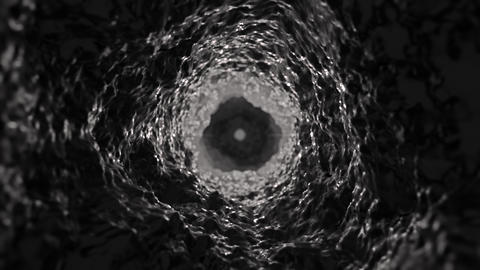 Sci fi Abstract dark scary black hole 5K flythrough Animation