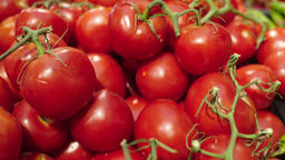 Fresh Raw tomatoes in a counter of market GIF