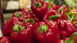 Fresh Raw red pepper in a counter of market GIF