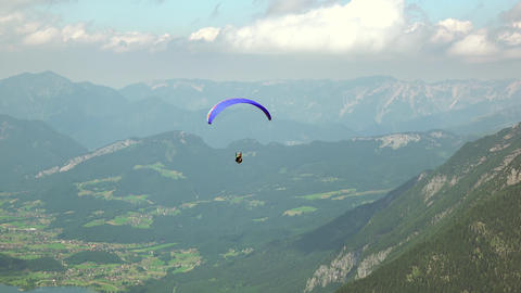 Paragliders Over the Summer Valley Live Action