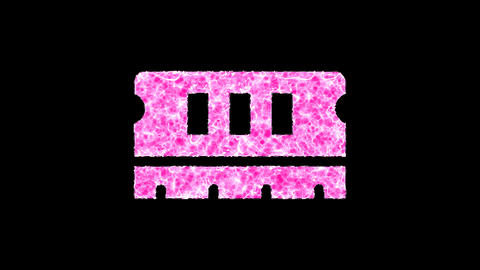 Symbol memory shimmers in three colors: Purple, Green, Pink. In - Out loop. Alpha channel Animation