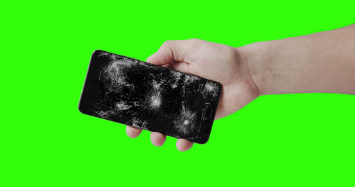 broken phone in the hand Live Action