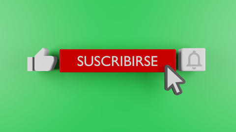 Youtube subscribe and bell icon motion graphic animation template clip. Subscribe Button Youtube. Acción en vivo