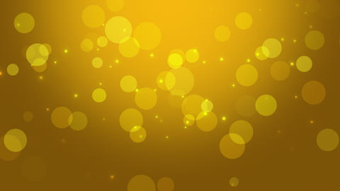 Falling abstract circles bokeh and particles. Shiny background for Happy holidays Animation