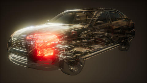 Car Engine Visible in Car Live Action
