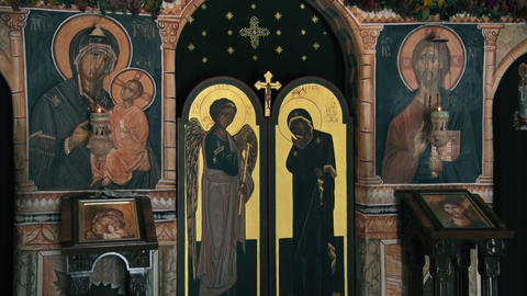 Prayer altar in an Orthodox monastery GIF