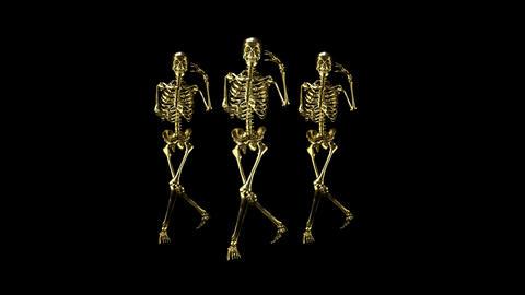 Metal skeletons in dance Animation