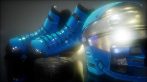 hockey equipment in the dark Live Action