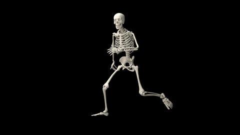 Skeleton running GIF