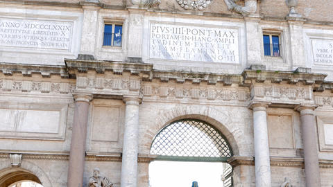 Gateway to the Piazza del Popolo, Rome, Italy Footage
