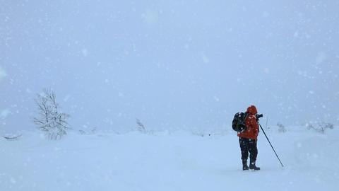 Photographer Shoots Snowfall Footage