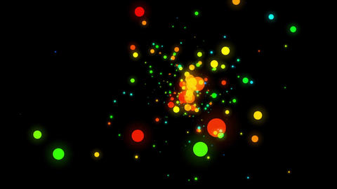 Colorful Dots Blinking Background Live Action