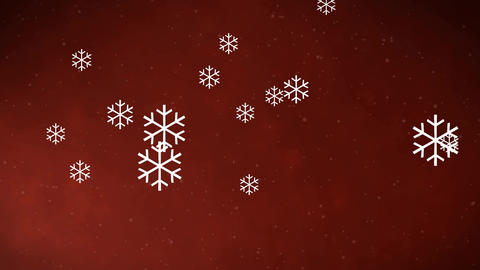 Christmas Background of Animated Snowflakes Filmmaterial