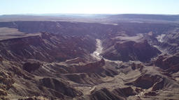 Massive canyon with drying river in it, nature of Namibia, Fish River Canyon Live Action
