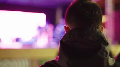 Male fan at a concert. Kyiv. Ukraine Live Action