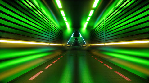 Techno tunnel. Futuristic perspective grid background texture. Abstract data Live Action