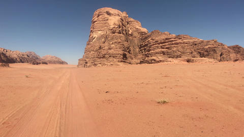 Wadi Rum, Jordan - pink cliffs and red sand in the desert part 18 Live Action