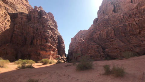 Wadi Rum, Jordan - pink cliffs and red sand in the desert part 20 Live Action