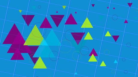 Geometric Figures Background Animation