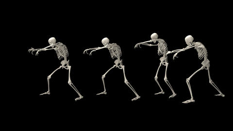 A group of wandering skeletons Animation