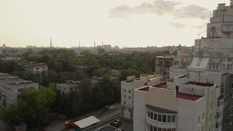 Aerial view Residential area in St. Petersburg Live Action