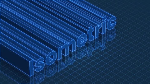 Isometric 3D Titles Motion Graphics Template