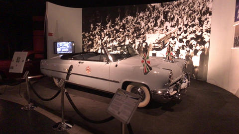 Amman, Jordan - October 20, 2019: Royal Automobile museum vintage car from the Live Action