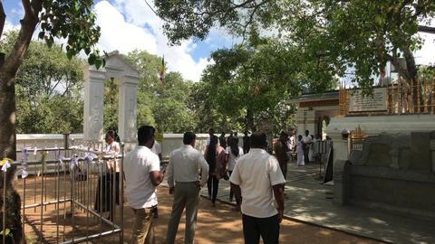 Anuradhapura, Sri Lanka, event in the temple 1 part Live Action