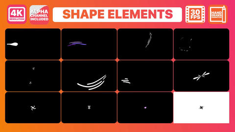 Dynamic Shapes And Titles Motion Graphics Template