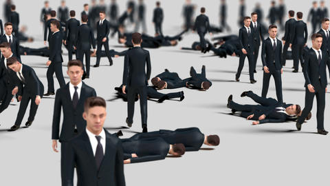 Crowd of Businessmen Animation