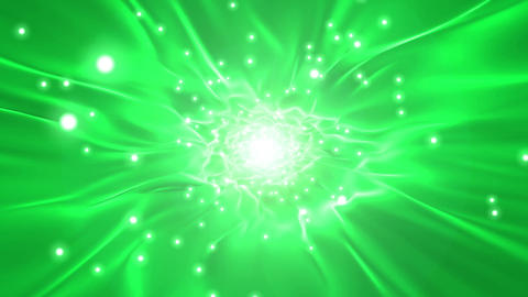 Tunnel green light particle loop animation Animation