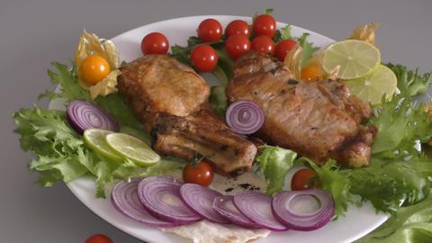Pork meat in Mediterranean cuisine Live Action