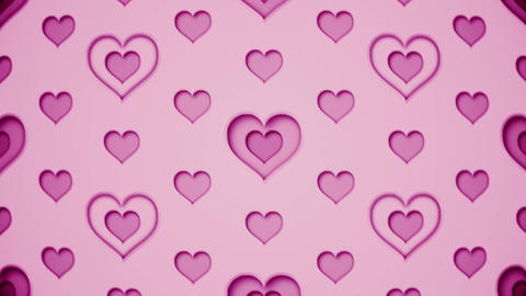 modern animated heart pattern 3d render animation Animation