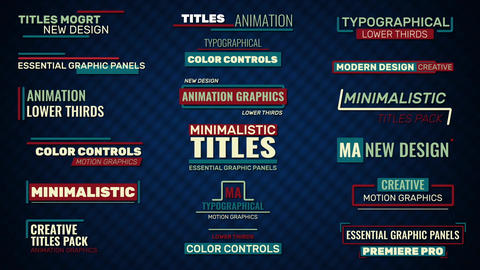 Titles And Lower Thirds Motion Graphics Template
